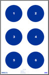 "Skill Training Target 8"" Circles (25pack)"
