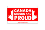 Bumper Sticker - CANADA STRONG AND PROUD