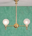 2-Arm Globe Light by Clare-Bell Brass Works