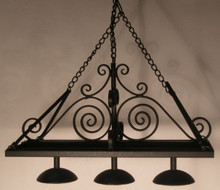 Hanging Pot Rack w/ 3 Down Lights By Jason Getzan