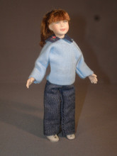 Young Brunette Girl by Cindi's Dollhouse