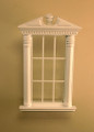 Corinthian Carved Window in White or Walnut by Bespaq