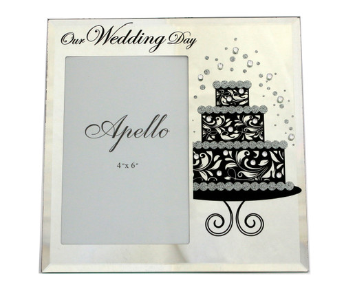 Our Wedding Day Glass Photo Frame