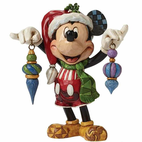 Mickey with Christmas Ornaments
