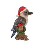 Kookaburra with Wreath Figurine - 13cm