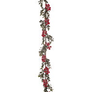 Frosted Red Berry Garland - 152cm