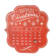 Red Metal Advent Calendar -  34cm