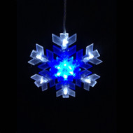 8pc Connectable LED Snowflake String - Blue/White