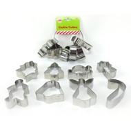 Metal Christmas Cookie Cutters - 8pc