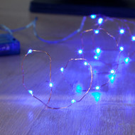 40pc LED Copper Battery Operated Fairy Lights - Blue