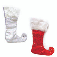 Elf Felt Stocking with Sequins (2 Colours)