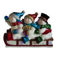 Lightup Christmas Sledding Snowmen - 104cm