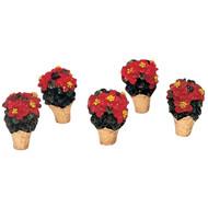 Set of 5 Poinsettias