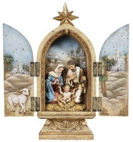 Holy Family Nativity Triptych-25cm