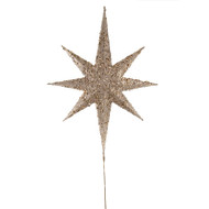 Gold Glittered North Star Tree Topper - 63cm
