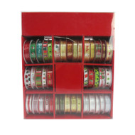 2.7m x 10mm Christmas Ribbon