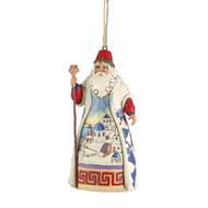 Jim Shore Greek Santa Hanging Ornament - 12cm