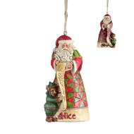 Jim Shore Naughty/Nice Santa Ornament