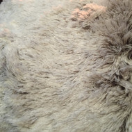 Brown and Cream fur tree skirt