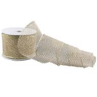 Champagne Mesh Ribbon - 10m