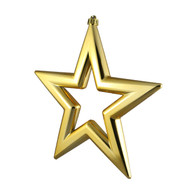 3pc Gold Star Hanging Ornaments