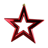 3pc Red Star Hanging Ornament