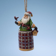 Jim Shore - Santa w/Cardinal Ho ornament