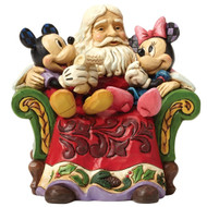 Santa Claus with Mickey Mouse and Minnie Mouse