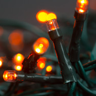 100pc Connectable LED Fairy Lights - Orange