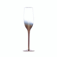 Copper & Clear Ombre Champagne Glass