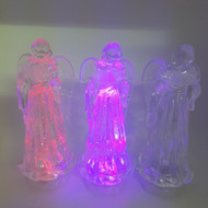 LED Swirling Glitter Colour Changing Angel - 27 cm