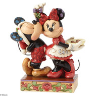 Mickey and Minnie Mistletoe Christmas Figurine  Jim Shore
