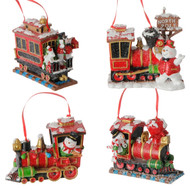 Snowman Train Ornament - 11cm