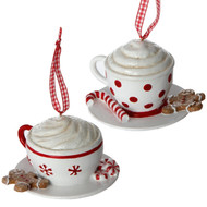 Gingerbread teacup ornament