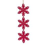 Red Glitter Star Drop Ornament