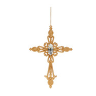 Gold Jewelled Cross Ornament