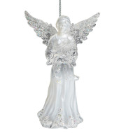 Acrylic Angel with Harp Hanging Ornament