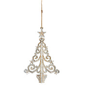 Gold Acrylic Christmas Tree Hanging Ornament
