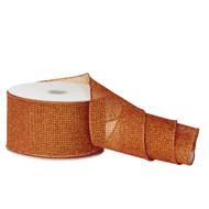 Glittered Copper Mesh Ribbon - 10m