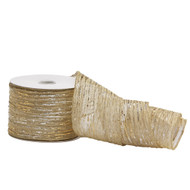 Gold & Silver Crinkle Ribbon - 10m