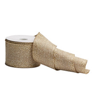 Burlap Ribbon with Gold Flecks - 10m
