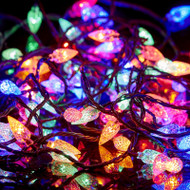 100pc Connectable LED Pinecone Lights - Multi Colour