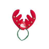 Chunky Reindeer Antler with Bells & Holly