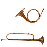 Brass Horn Ornaments - 53cm or 25cm