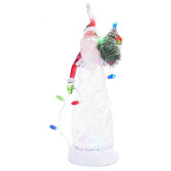 LED Swirling Glitter Santa