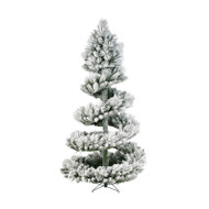 7.5FT Spiral Green Frosted Christmas Tree