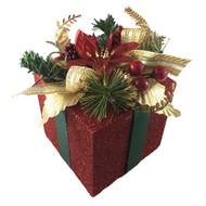 Red Gift Box Decoration-18 cm