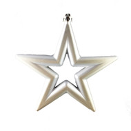 Set of 8 Silver Stars - 14cm