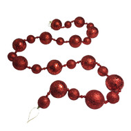 Red Glittered Bauble Garland-170 cm