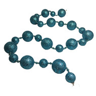 Teal Glittered Bauble Garland-170 cm